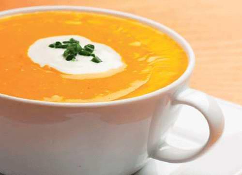 Тыквенный суп-пюре с томатами